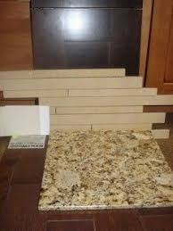Brown Subway Travertine Backsplash Brown Cabinet by 13 Best Backsplash Kitchen With Venetian Gold Granite Images On
