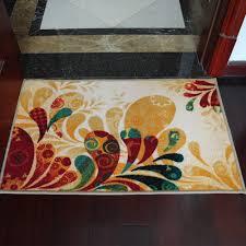 country door home decor yazi country style floral anti slip door mat kitchen rug mat anti