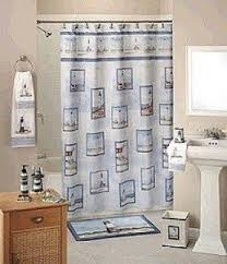 Pictures Of Shower Curtains In Bathrooms Lighthouse Shower Curtain Foter