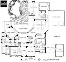 luxury home blueprints hill country plan 7500