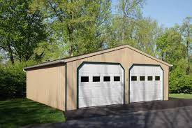 double wide a frame garage at riehl quality storage barns 24x24 double wide a frame