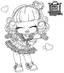 cute monster high coloring pages virtren com