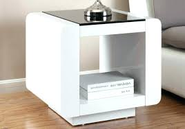 single drawer round nightstand with storage base in black for