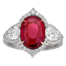 ruby diamond ring untreated ruby and diamond ring 3 02 carat for sale at 1stdibs