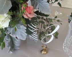 acrylic table numbers wedding lucite table numbers etsy