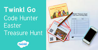 twinkl writing paper twinkl go code hunter easter treasure hunt
