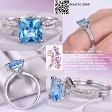 gold topaz rings images 685 princess swiss blue topaz ring bridal sets united as one jpg