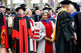 faculty regalia matt damon celebrates his graduation while addressing the