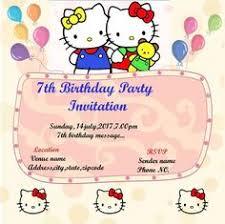 hello kitty 1st birthday invitation template hello kitty