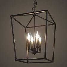 Indoor Lantern Chandelier Jinguo Lighting 4 Lights Foyer Pendant With Lantern Style Cage
