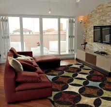 flooring inspiring interior rugs design ideas with exciting comfortable maroon sectional sofa with exciting kaleen rugs