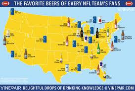 Beer Map The Favorite Beers Of Every Nfl Team U0027s Fans Vinepair