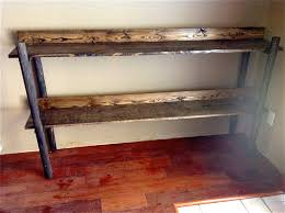 rustic handmade wooden bookshelf furniture pinterest