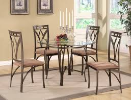 Circular Glass Dining Table And 4 Chairs Fancy Round Glass Dining Room Table Sets 67 For Unique Dining