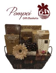 gourmet coffee gift baskets cafe gourmet gift basket by pompei baskets