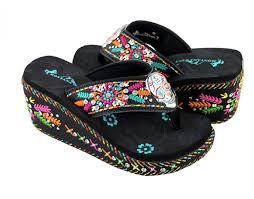 flip flops sandals my sugar skulls