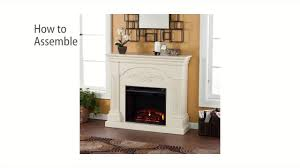 fe9275 sicilian harvest electric fireplace ivory assembly video