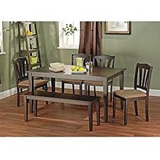 dining room set with bench amazon com white dining room set with bench this country style