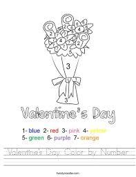 valentine u0027s day color by number worksheet twisty noodle