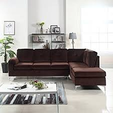 Large L Shaped Sectional Sofas Modern Tufted Brush Microfiber Sectional Sofa Large L