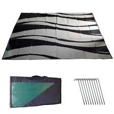 Outdoor Camping Rugs by Amazon Com Snowbird Extra Tough Reversible Rv Mats Waves