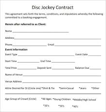 dj contracts templates hlwhy dj contract sample dj contract
