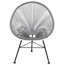 All Modern Outdoor Furniture by Polivaz Acapulco Wire Basket Lounge Chair Indoor Outdoor Stackable