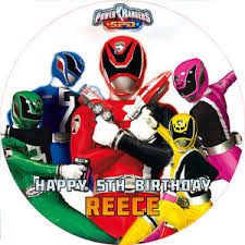 power rangers cake toppers power rangers spd 7 5 cake topper rice paper icing 24hr