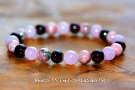 rose quartz beads bracelet images Combination power bead bracelets remnants of magic jpeg