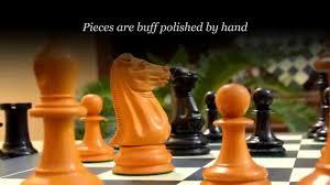 reproduced 1851 staunton chess set in ebony antiqued box wood