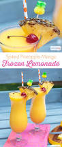 Summer Cocktail Tropical Frozen Lemonade With Pineapple Rum Atta Says