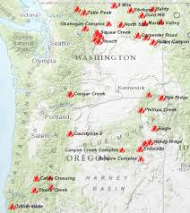 a map of oregon wildfires wildfires continue to rage my columbia basin