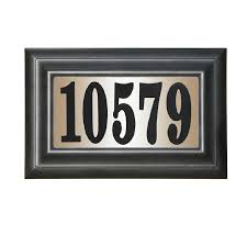 Lighted House Number Sign Shop Custom Home Accessories 9 In Black House Number Rectangle At