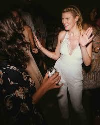 wedding dress jumpsuit real brides who nailed the bridal jumpsuit look martha stewart