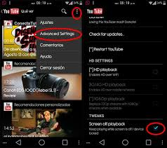 utube apk listening to audio from with the screen phoneia