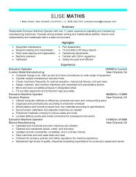 Resume Sample Maintenance Worker by Best Extrusion Operator Resume Example Livecareer