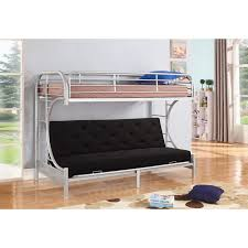 Bunk Bed Futon Combo C Shaped Silver Metal Futon And Bunkbed Combo By
