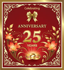 wishes 25 year with wishes 25th anniversary of the wedding stock vector illustration of