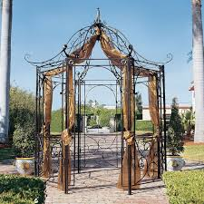 Patio Gazebo Ideas by Attaching Outdoor Patio Gazebo With Metal House Decorations And