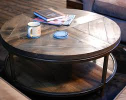 round wood coffee table rustic round industrial coffee table industrial pipe legs reclaimed