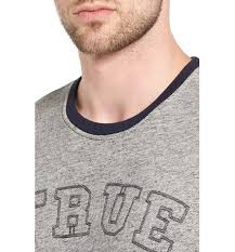 true religion men embroidered sweatshirt heather grey men true