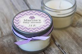 candle favors 12 4 oz baby shower favor baby owl favor soy candle favor