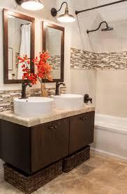 Mirrored Subway Tile Backsplash Bathroom Transitional With by Tile Backsplash Bathroom Has Merry Bathroom Sink Backsplash Ideas
