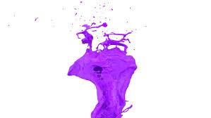 purple paint rotating splash of purple color in slow motion alpha channel