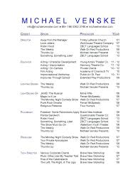 musical theatre resume template this is theatre resume templates articlesites info