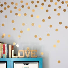 online get cheap wall dots decals aliexpress com alibaba group 2017 hot sale stylish gold dots wall sticker round dot pattern decal home interior decoration for