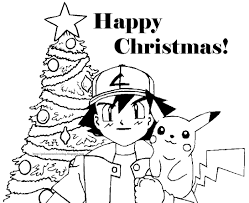 pokemon cartoon free coloring pages for christmas christmas
