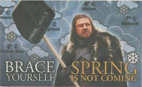 Brace Yourself Memes - brace yourself spring is not coming