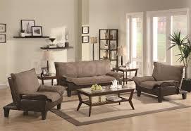 862 00 caroline 3pc microfiber sleeper sofa set in brown sofa