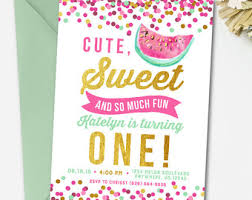invitation templates watermelon birthday invitations watermelon birthday invitations by